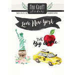 Scrapbook Customs - Cardstock Stickers - Mini Craft - New York Love