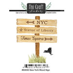 Scrapbook Customs - Cardstock Stickers - Mini Craft - New York Wood Sign