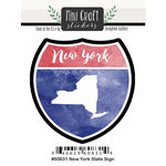 Scrapbook Customs - Cardstock Stickers - Mini Craft - New York Sign