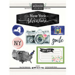 Scrapbook Customs - Cardstock Stickers - New York Watercolor