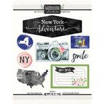 Scrapbook Customs - Cardstock Stickers - New York Watercolor