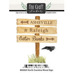 Scrapbook Customs - Cardstock Stickers - Mini Craft - North Carolina Wood Sign