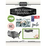 Scrapbook Customs - Cardstock Stickers - North Carolina Watercolor