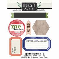 Scrapbook Customs - Cardstock Stickers - Mini Craft - North Dakota Photo Tags