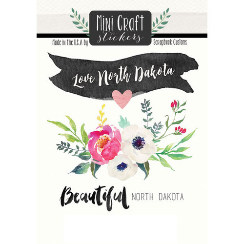 Scrapbook Customs - Cardstock Stickers - Mini Craft - North Dakota Love