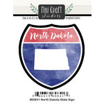 Scrapbook Customs - Cardstock Stickers - Mini Craft - North Dakota Sign
