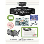 Scrapbook Customs - Cardstock Stickers - North Dakota Watercolor