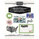 Scrapbook Customs - Cardstock Stickers - North Dakota Watercolor