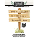 Scrapbook Customs - Cardstock Stickers - Mini Craft - Ohio Wood Sign