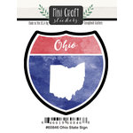 Scrapbook Customs - Cardstock Stickers - Mini Craft - Ohio Sign