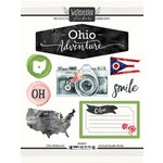 Scrapbook Customs - Cardstock Stickers - Ohio Watercolor