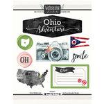 Scrapbook Customs - Cardstock Stickers - Ohio Watercolor
