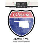 Scrapbook Customs - Cardstock Stickers - Mini Craft - Oklahoma Sign
