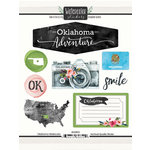 Scrapbook Customs - Cardstock Stickers - Oklahoma Watercolor