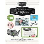 Scrapbook Customs - Cardstock Stickers - Oklahoma Watercolor