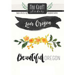 Scrapbook Customs - Cardstock Stickers - Mini Craft - Oregon Love