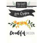 Scrapbook Customs - Cardstock Stickers - Mini Craft - Oregon Love