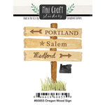 Scrapbook Customs - Cardstock Stickers - Mini Craft - Oregon Wood Sign