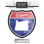 Scrapbook Customs - Cardstock Stickers - Mini Craft - Oregon Sign