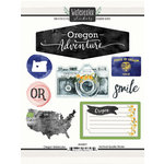 Scrapbook Customs - Cardstock Stickers - Oregon Watercolor