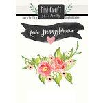 Scrapbook Customs - Cardstock Stickers - Mini Craft - Pennsylvania Love