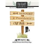 Scrapbook Customs - Cardstock Stickers - Mini Craft - Rhode Island Wood Sign