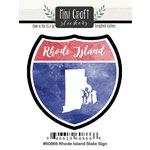 Scrapbook Customs - Cardstock Stickers - Mini Craft - Rhode Island Sign