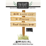 Scrapbook Customs - Cardstock Stickers - Mini Craft - South Dakota Wood Sign