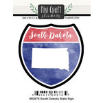 Scrapbook Customs - Cardstock Stickers - Mini Craft - South Dakota Sign
