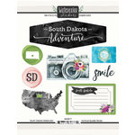 Scrapbook Customs - Cardstock Stickers - South Dakota Watercolor