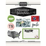 Scrapbook Customs - Cardstock Stickers - Tennessee Watercolor
