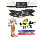 Scrapbook Customs - Cardstock Stickers - Mini Craft - Texas Love