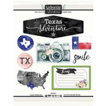 Scrapbook Customs - Cardstock Stickers - Texas Watercolor