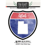 Scrapbook Customs - Cardstock Stickers - Mini Craft - Utah Sign