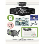 Scrapbook Customs - Cardstock Stickers - Utah Watercolor