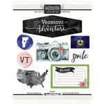 Scrapbook Customs - Cardstock Stickers - Vermont Watercolor