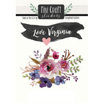 Scrapbook Customs - Cardstock Stickers - Mini Craft - Virginia Love