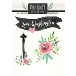 Scrapbook Customs - Cardstock Stickers - Mini Craft - Washington Love