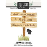 Scrapbook Customs - Cardstock Stickers - Mini Craft - Wisconsin Wood Sign
