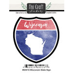 Scrapbook Customs - Cardstock Stickers - Mini Craft - Wisconsin Sign