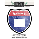 Scrapbook Customs - Cardstock Stickers - Mini Craft - Wyoming Sign