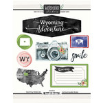 Scrapbook Customs - Cardstock Stickers - Wyoming Watercolor