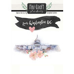 Scrapbook Customs - Cardstock Stickers - Mini Craft - Washington DC Love