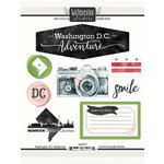 Scrapbook Customs - Cardstock Stickers - Washington DC Watercolor