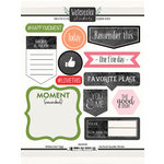 Scrapbook Customs - Cardstock Stickers - Watercolor Tags