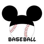 Scrapbook Customs - Cardstock Stickers - Baseball - Magic Ears - Boy