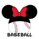 Scrapbook Customs - Cardstock Stickers - Baseball - Magic Ears - Girl
