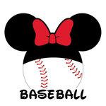 Scrapbook Customs - Cardstock Stickers - Baseball - Magic Ears - Girl