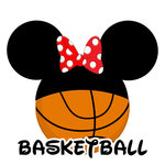 Scrapbook Customs - Cardstock Stickers - Basketball - Magic Ears - Boy