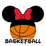 Scrapbook Customs - Cardstock Stickers - Basketball - Magic Ears - Girl